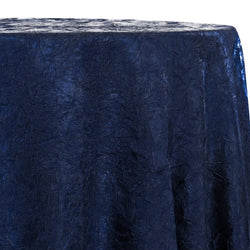 Crush Satin (Bichon) Table Linen in Navy