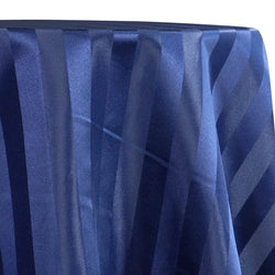 Imperial Stripe Table Linen in Navy