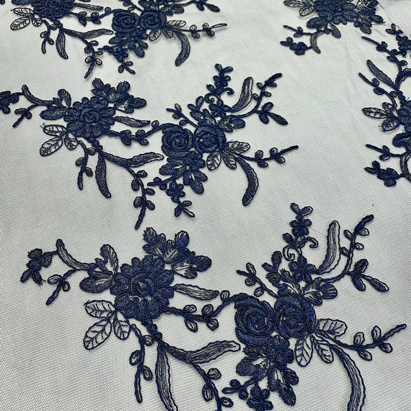 Laylani Lace Table Runner in Navy