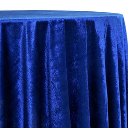 Lush Velvet Table Linen in Navy
