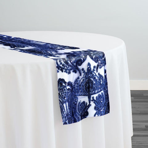 Princess Lace Table Runner in Navy