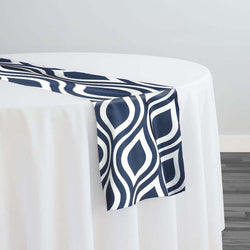 Groovy Print (Lamour) Table Runner in Navy