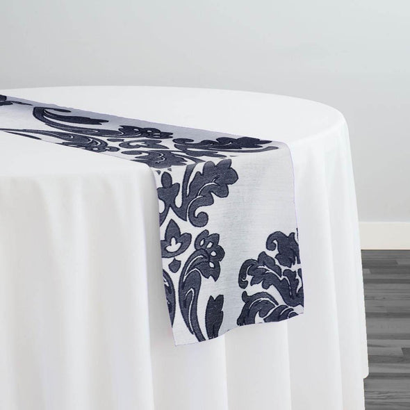 Madison Jacquard (Reversible) Table Runners in Navy