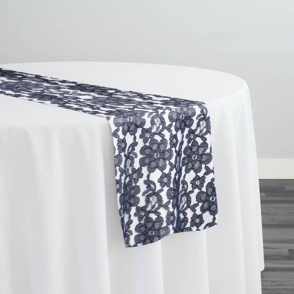 Classic Lace Table Runner in Navy