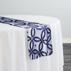 Delano Sequins Table Runner in Navy