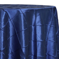 "4"" Pintuck Taffeta Table Linen in Navy"