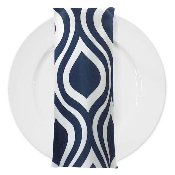 Groovy Print Lamour Table Napkin in Navy