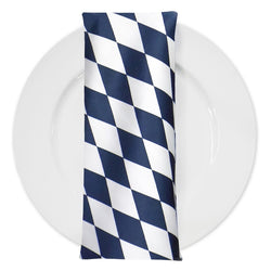 Harlequin (Lamour Print) Table Napkin in Navy
