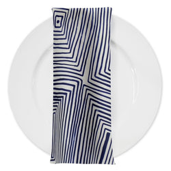 Modena (Poly Print) Table Napkin in Navy