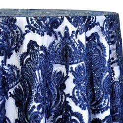 Princess Lace Table Linen in Navy