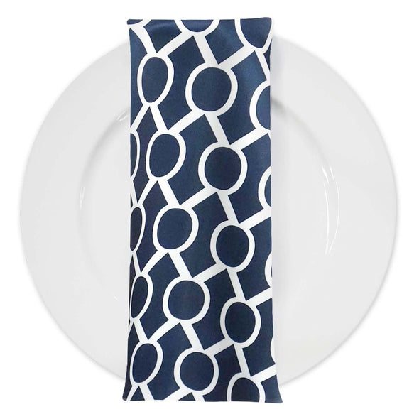 Halo Print Lamour Table Napkin in Navy