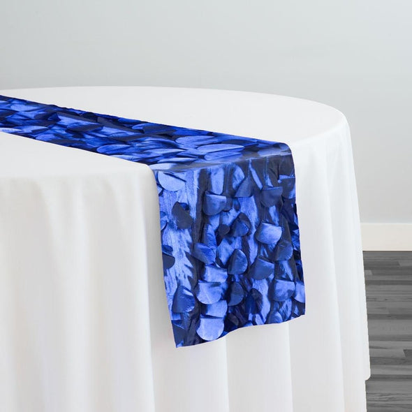 Funzie (Circle Hanging) Taffeta Table Runner in Navy
