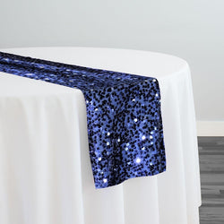 Taffeta Sequins Table Runner in Navy