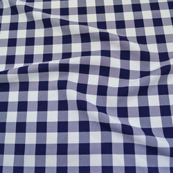 Polyester Checker (Gingham) Table Linen in Navy
