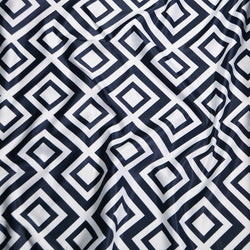 Paragon Print (Lamour) Table Linen in Navy