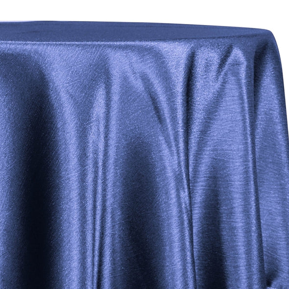 Luxury Satin Table Linen in Navy