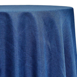 Imitation Burlap (100% Polyester) Table Linen in Navy