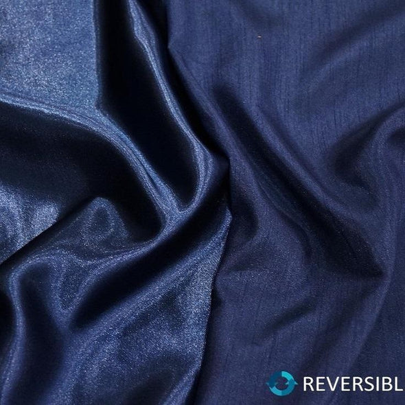 Shantung Satin (Reversible) Table Linen in Navy