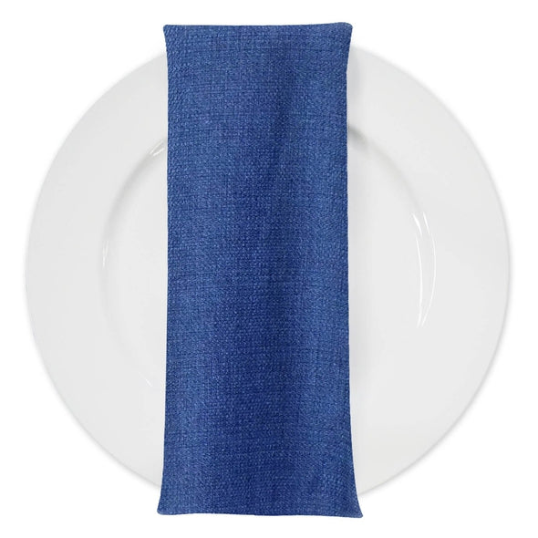Rustic Linen Table Napkin in Navy