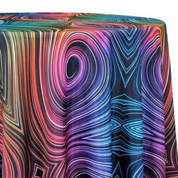 Neon Abstract Poly Print Table Linen
