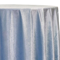 Lush Velvet Table Linen in Baby Blue