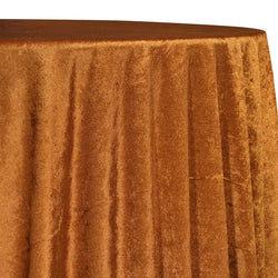 Lush Velvet Table Linen in Rust