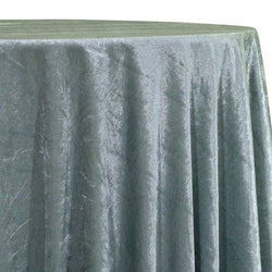Lush Velvet Table Linen in Sea Foam