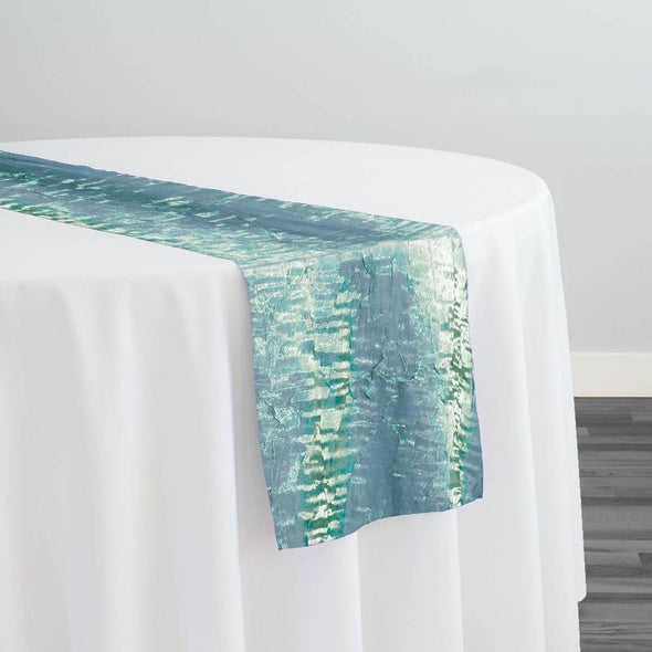 Crush Shimmer (Galaxy) Table Runner in New Aqua 35