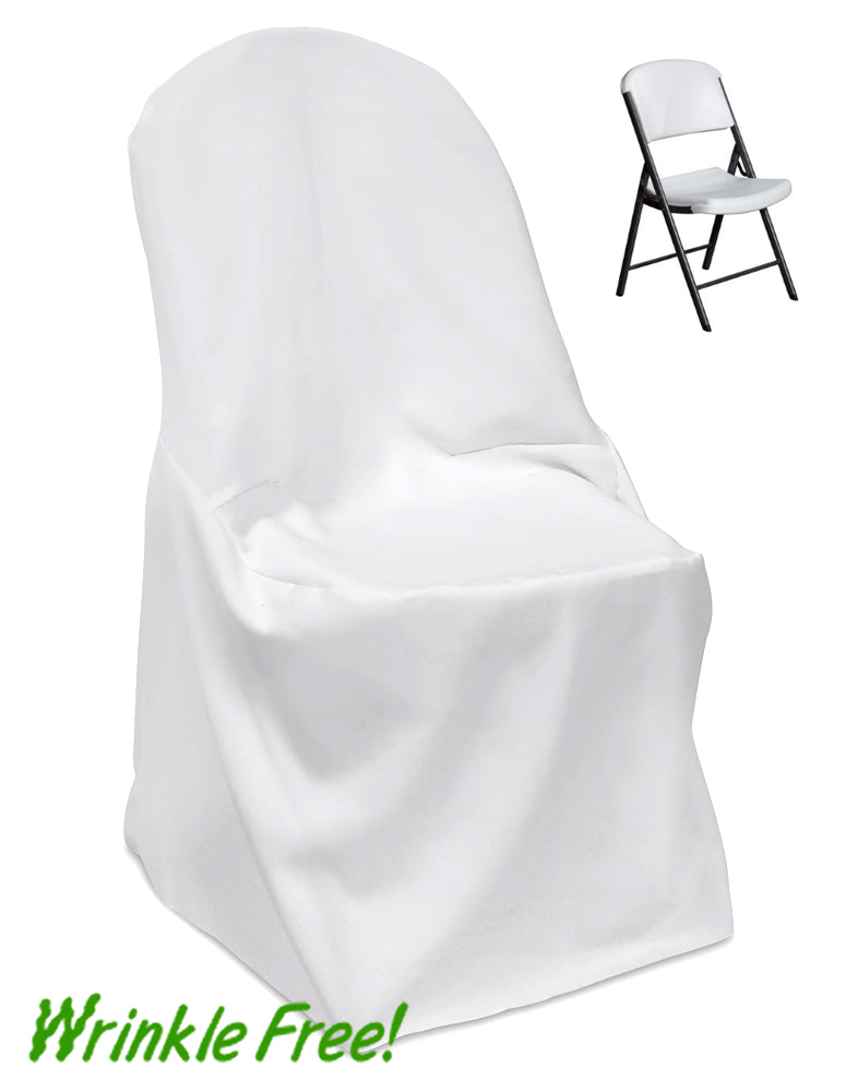 Premium Scuba (Wrinkle-Free) Lifetime (Roundtop) Folding Chair Cover
