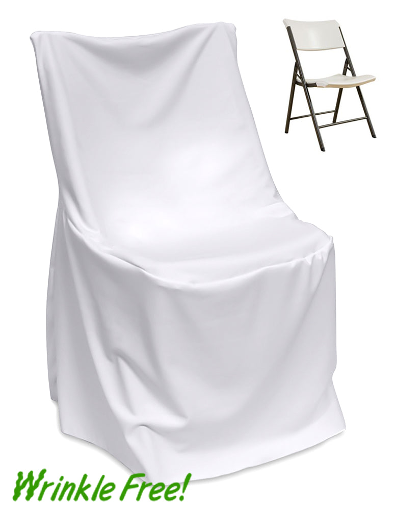 10 White LIFETIME FOLDING CHAIR COVERS Wedding Party Discounted Decorations