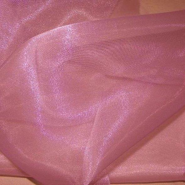 Crystal Organza Wholesale Fabric in Mauve 055