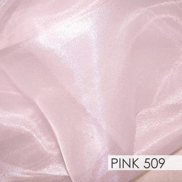 Crystal Organza Table Runner in Pink 509