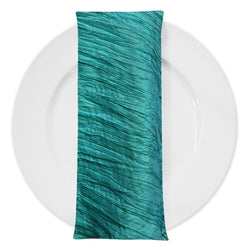 Accordion Taffeta Table Napkin in Oasis