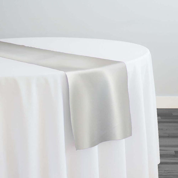 Lamour (Dull) Satin Table Runner in Off White 1105