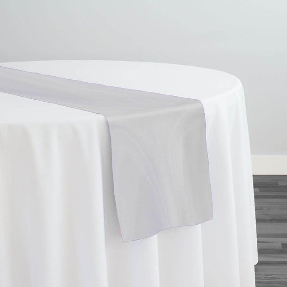 Crystal Organza Table Runner in Off White 250