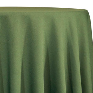 Olive Green Tablecloth in Polyester for Weddings