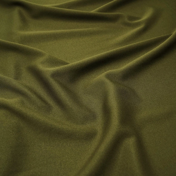 Scuba (Wrinkle-Free) Wholesale Fabric in Olive 502