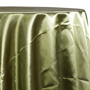 Bridal Satin Table Linen in Dark Olive 553