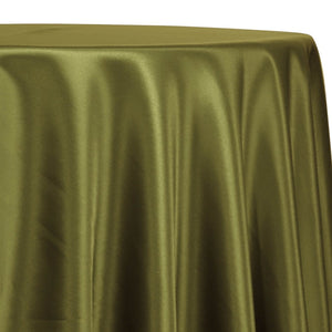Lamour (Dull) Satin Table Linen in Olive Green 1669