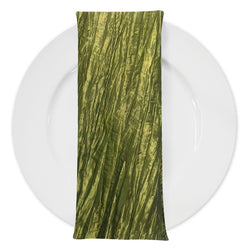 Accordion Taffeta Table Napkin in Olive