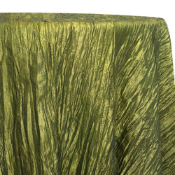 Accordion Taffeta Table Linen in Olive