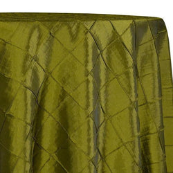 "2"" Pintuck Taffeta Table Linens in Olive 029"