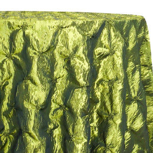 Belly Button (Pinwheel) Table Linen in Olive