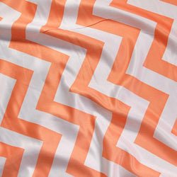 Chevron Print (Lamour) Table Runner in Orange and White