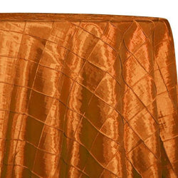 "2"" Pintuck Taffeta Table Linens in Orange 018"