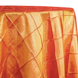 "4"" Pintuck Taffeta Table Linen in Orange 107"