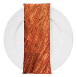 Accordion Taffeta Table Napkin in Orange