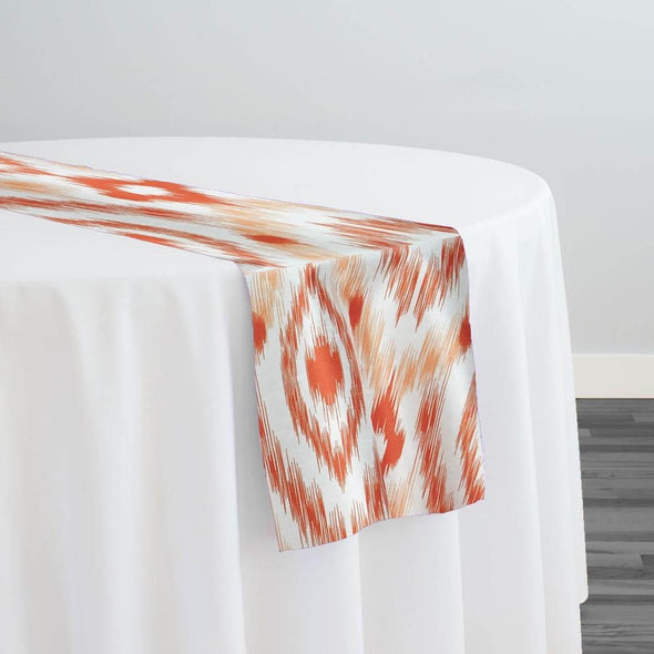 Cosmo Print (Dupioni) Table Runner in Orange
