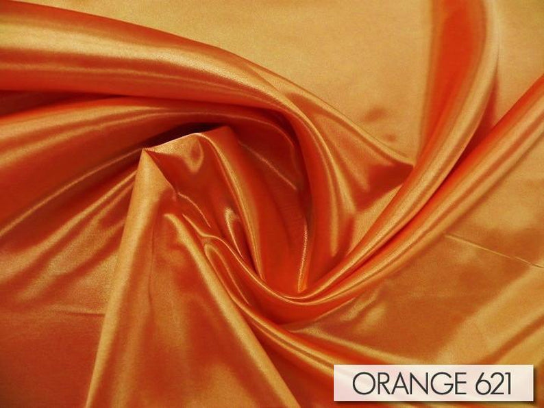 "231pcs - Bridal Satin - 8""x108"" Sash w/ Slanted Ends - Orange 621"