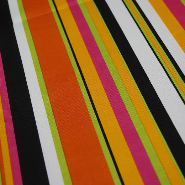 Multi-Color Stripe Table Linen in Sombrero